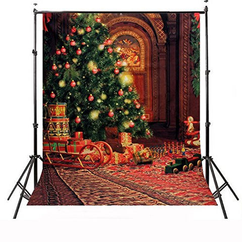 Christmas Xmas Tree Gift Toys Photography Studio Backdrop Prop Background