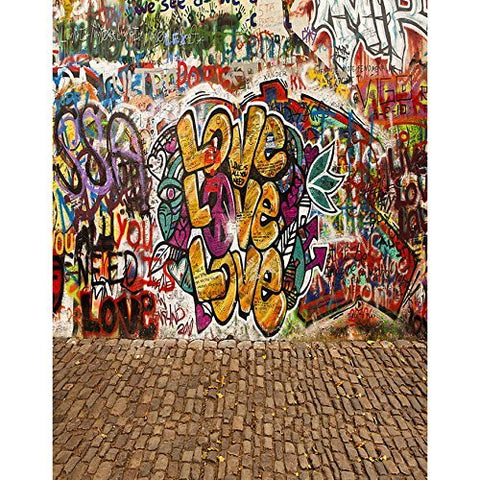 Graffiti Paint Street Love Culture Photography Studio Backdrop Background