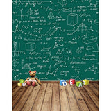 Mathematics Blackboard Function Wood Floor Photography Studio Backdrop Background
