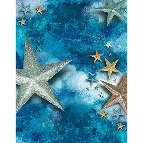 Colored Big Stars Ocean Sky Photography Studio Backdrop Background