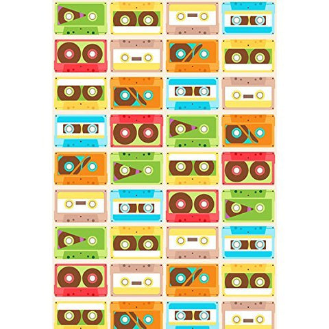Colorful Cassette Tape Photography Studio Backdrop Background