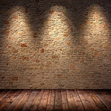 Brown Brick Spotlight Wall Photography Studio Backdrop Background