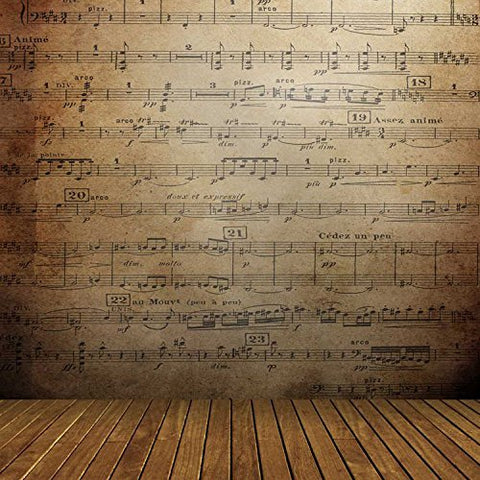 Music Score Notation Stave Staff Photography Studio Backdrop Background