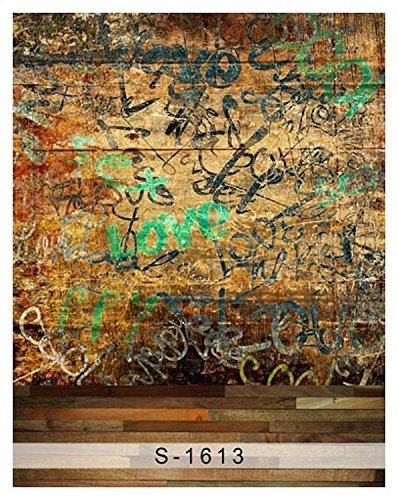 Graffiti Scrawl Wall Wood Floor Photography Studio Backdrop Background