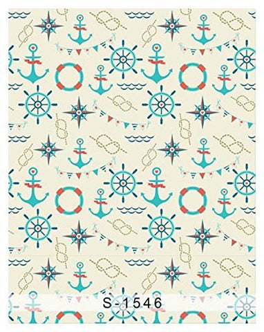 Nautical Navigation Symbol Anchor Steer Lifebelt Photography Studio Backdrop Background