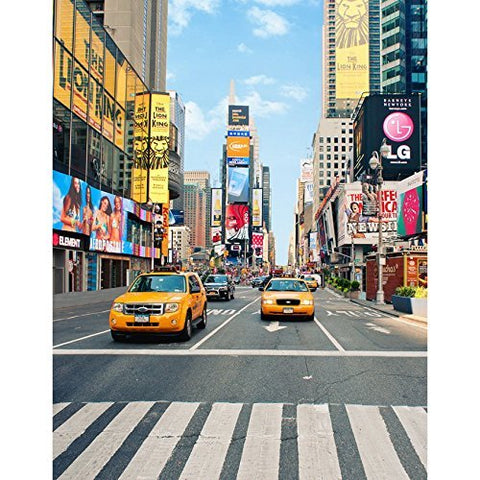 New York Time Square Street Taxi Photography Studio Backdrop Background