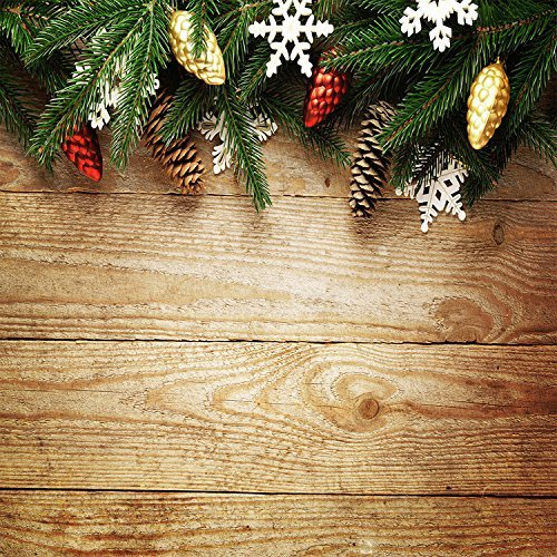 Christmas Pine Tree Nut Wood Floor Boards Plank Photography Studio Backdrop Background