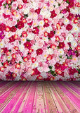 Colorful Flowers Floral Pink Floor Photography Studio Backdrop Prop Background