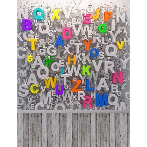 Colored 3D Alphabet Letters Photography Studio Backdrop Background