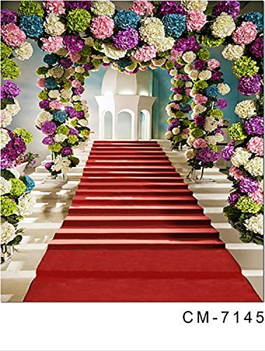 Wedding Flower Door Red Carpet Church Photography Studio Backdrop Background