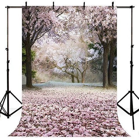 Pink Sakura Tree Floral Photography Studio Backdrop Background