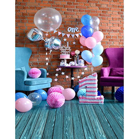 Birthday Pink Balloons Photography Studio Backdrop Background