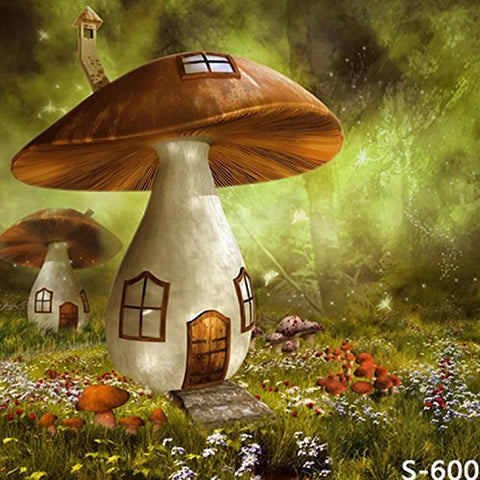 Murshroom House Cabin Photography Studio Backdrop Background