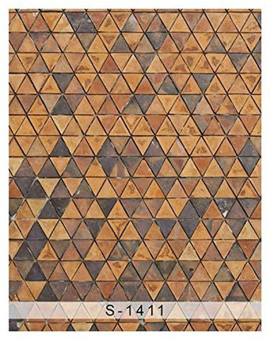 Retro Brown Chocolate Triangle Photography Studio Backdrop Background