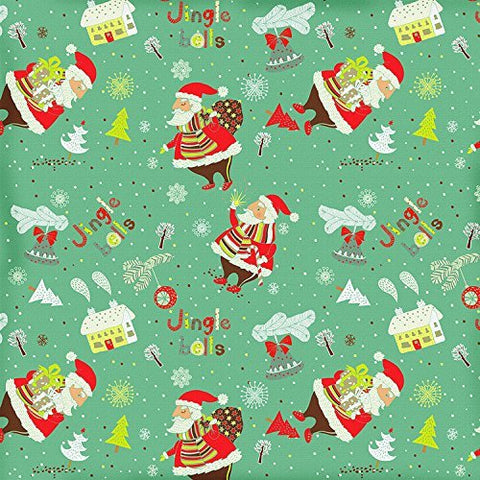 Cartoon Christmas Santa Claus Jingle Gingerbread House Bells Photography Studio Backdrop Background