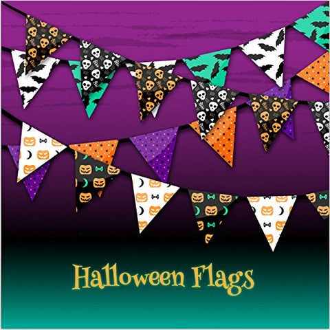 Halloween Hallowmas Pumpkin Flags Photography Studio Backdrop Background