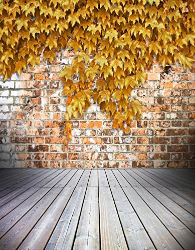 Autumn Fall Maple Yellow Leaves Photography Studio Backdrop Background