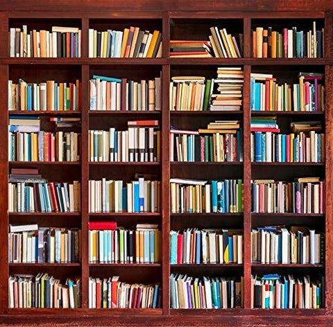 Bookshelf School Library Study Room Photography Studio Backdrop Background