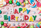 Birthday Colorful Candy Photography Studio Backdrop Background