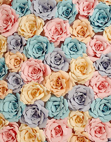Blue Pink Orange Flower Photography Studio Backdrop Background