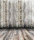 Glitter White Dots Wood Floor Photography Studio Backdrop Prop Background