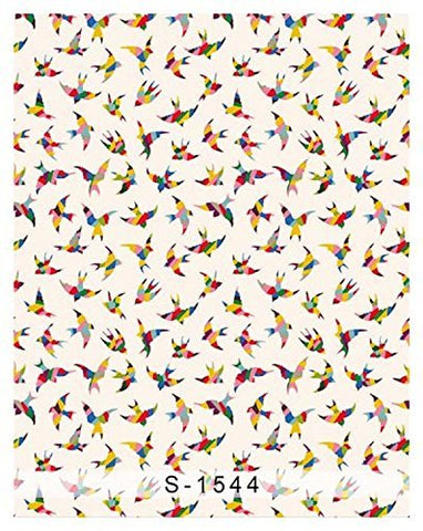 Abstract Colorful Birds Photography Studio Backdrop Background