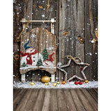Christmas Xmas Star Childern Wood Floor Photography Studio Backdrop Background