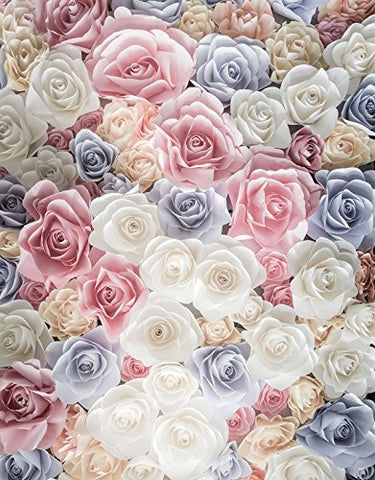 Pink White Blue Flower Romance Photography Studio Backdrop Background