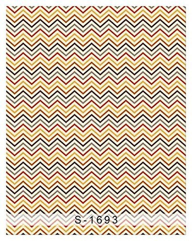 Colorful Zigzag Wave Pattern Photography Studio Backdrop Background