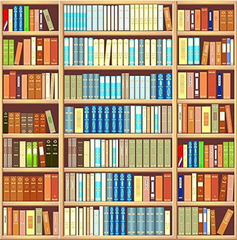 Bookshelf Library Photography Studio Backdrop Background
