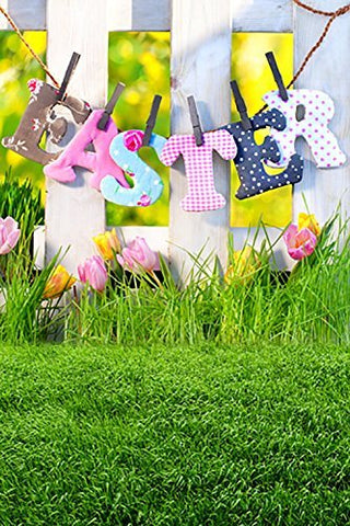 Easter Day Brick Block Grass Photography Studio Backdrop Background