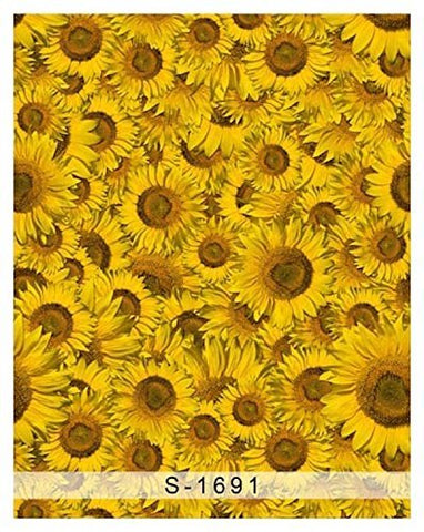 Yellow Sunflower Photography Studio Backdrop Background