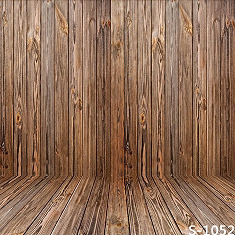 Heavy Color Wood Wall Floor Photography Studio Backdrop Background