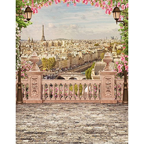 Old Retro Paris Landscape Photography Studio Backdrop Background