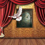3D Peace Pigeon Dove Bird Frame Stage Photography Studio Backdrop Background