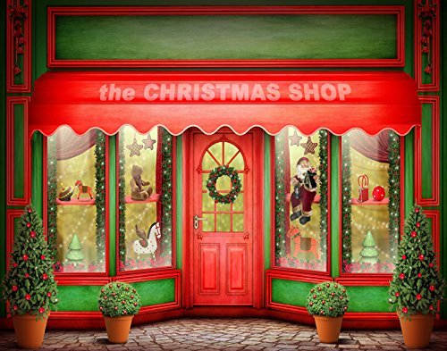 The-Christmas-Shop-Winter-Photography-Studio-Backdrop-Background