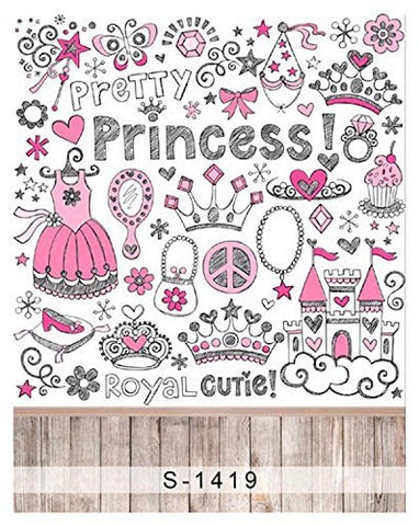 Abstract Art Sketch Princess Girl Photography Studio Backdrop Background