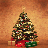 Xmas Christmas Tree Gifts Wall Photography Studio Backdrop Background