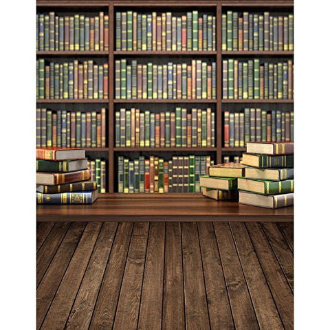 Bookshelf School Study Room Photography Studio Backdrop Background