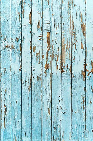Retro Blue Old Effect Wood Floor Wall Photography Studio Backdrop Prop Background