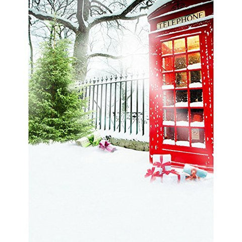 Mailbox Winter Snow Cold Photography Studio Backdrop Background