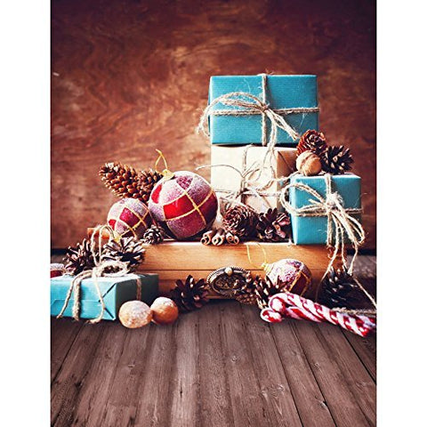Christmas Xmas Pinecone Photography Studio Backdrop Background