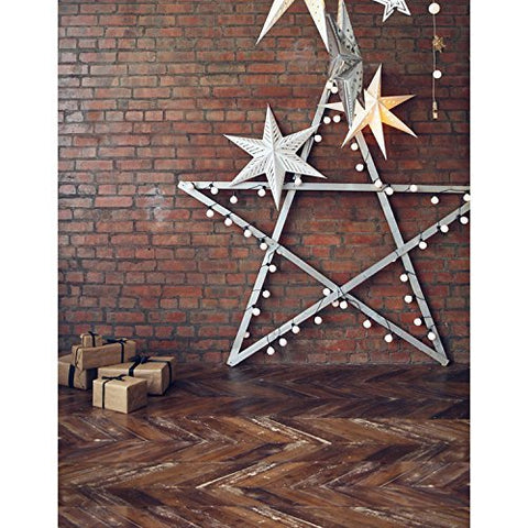 Sliver Big Five Pointed Stars Light Photography Studio Backdrop Background