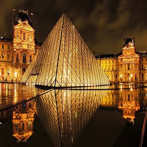 France Paris Glass Pyramid Louvre Photography Studio Backdrop Background