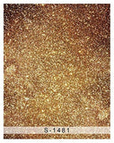 Gold Foil Glitter Dots Photography Studio Backdrop Background