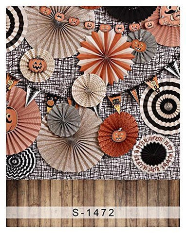 3D Paper Cut Circle Wood Floor Photography Studio Backdrop Background