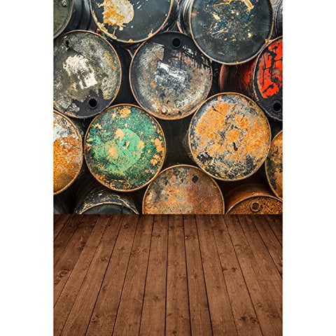 Paint Bucket Pot Wood Floor Photography Studio Backdrop Background