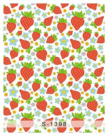 Cartoon Abstract Strawberry Photography Studio Backdrop Background