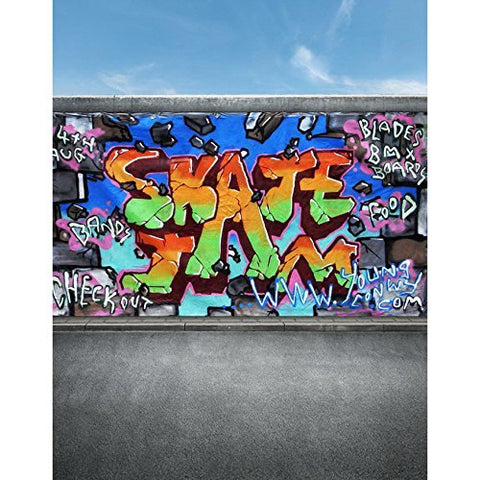 Graffiti Paint Sign Skateboard Photography Studio Backdrop Background