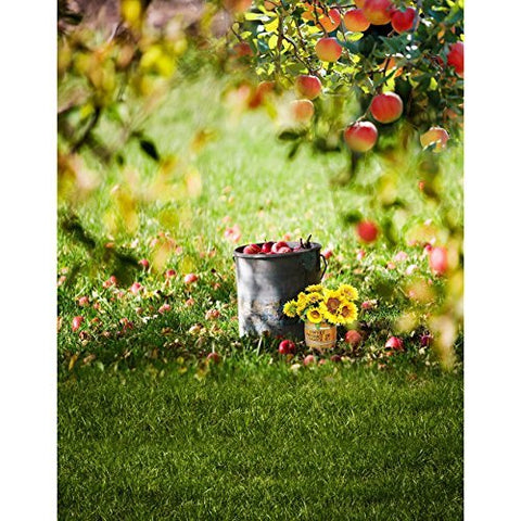 Apple Orchard Glossy and Green Grass Photography Studio Backdrop Background